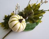 Artificial Pumpkin Gourd Spray, 24 quot Greenery Berry Spray, DIY Fall Floral Arrangements, Wreath Making for Thanksgiving, Autumn Home Decor