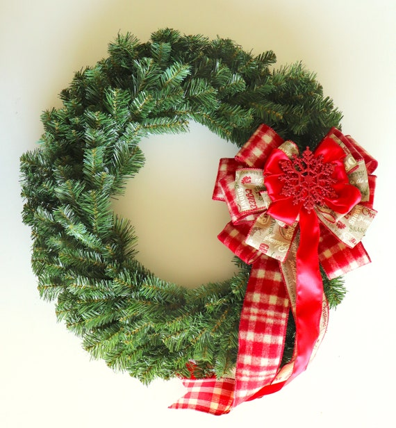 Rustic Christmas Wreath Diy.Rustic Christmas Wreath Bow Rustic Christmas Decorations Diy Wreath Making For Christmas Country Christmas Nest Bow Large Wreath Bow