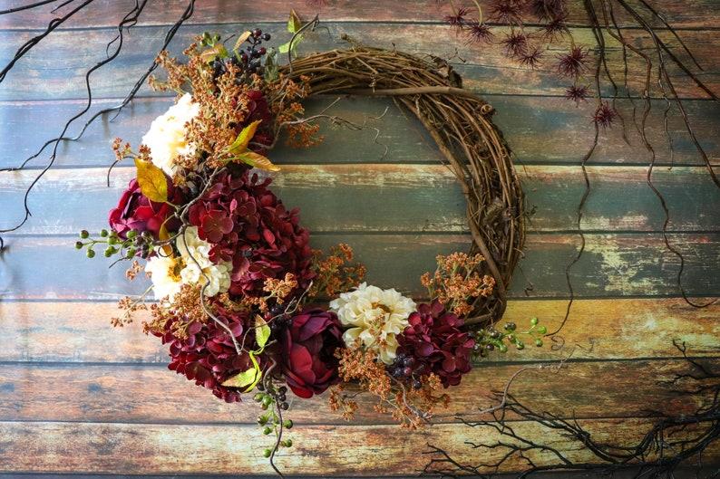 Fall Front Door Wreath Rustic Autumn Wall Decor Wreath Fall image 0
