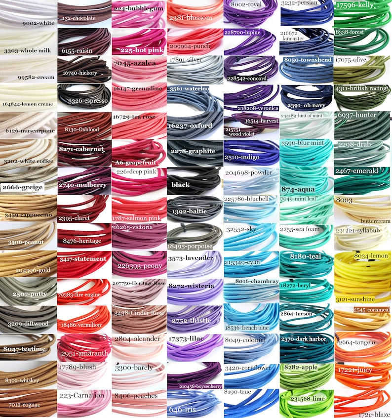 100 plus shades Perfect size for Traveler/'s Notebooks 2mm Elastic Cord US Seller Choose yardage