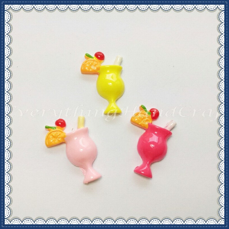 3pcs Cute Duckling Resin Flatback Cabochon Embellishment Kawaii Scrapbook Craft