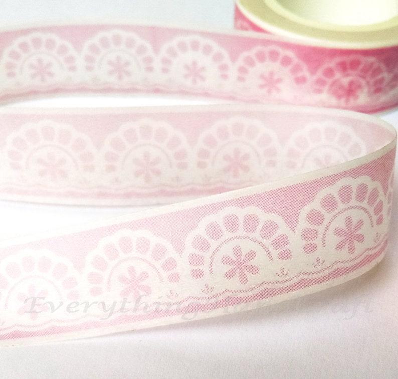 912e99ba12c86a Spitze Deckchen rosa Dekoband / rosa Spitze dekorative Band / Deckchen rosa  Masking Tape / Zakka Washi tape 10m h18