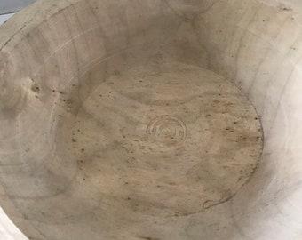 Primitive Wooden Dough Bowl Farmhouse Home Accent Country Rustic Decor Rough Cut
