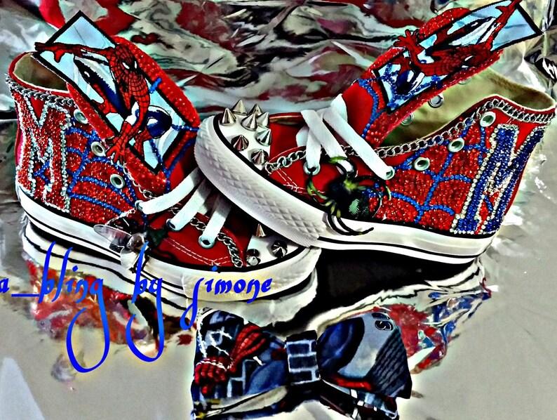 ef757dd78794b0 Custom Spiderman converse