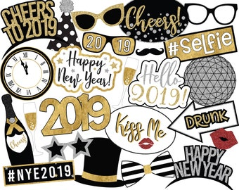 New Years Photo Prop Etsy