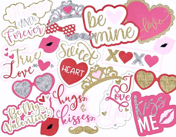 Valentine S Day Photo Booth Props Valentine S Day Photo Props I