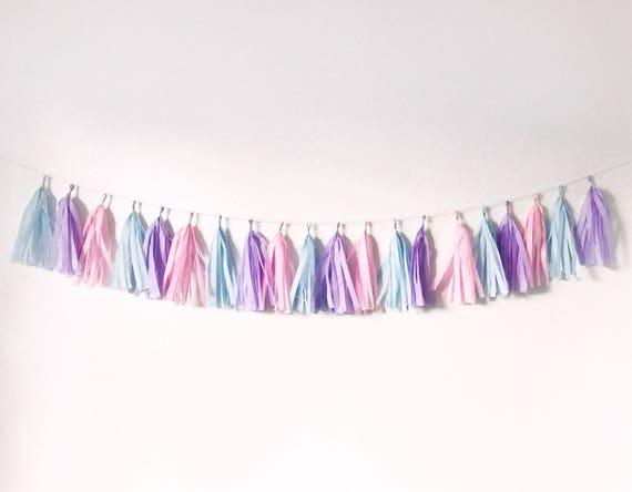 Cotton Candy Tassel Garland Tassel Garland Baby Shower