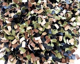 Camo Confetti | Camouflage Confetti | Army Party Decor | Military Party Decor| Hunting Theme Party Decor | Paper Shred Confetti