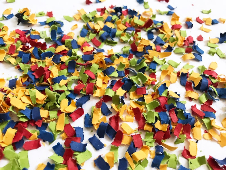 Red Blue Yellow and Green Confetti  Building Block Party image 0