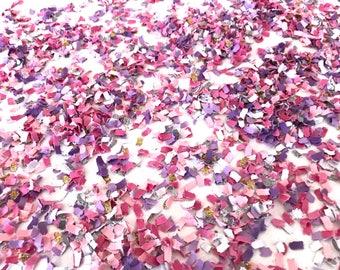 Princess Confetti Confetti | Pink and Purple Confetti | Paper Shred Confetti | Glitter Confetti | Princess Party Decor | Princess Theme