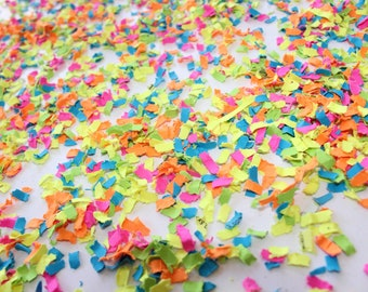 Neon Confetti | Neon Party Decor | Neon Decorations | Black Light Party Decor | Glow Party Decor | Neon Party Supplies | Glow Party Supplies