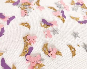 Princess Confetti | Crown Confetti | Tiara Confetti | Pink and Purple Confetti | Princess Party Decor | Princess Decorations | Bow Confetti