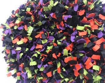 Halloween Confetti | Orange and Black Confetti | Paper Shred Confetti | Orange, Black, Green, and Purple Party | Halloween Party Decor | Boo