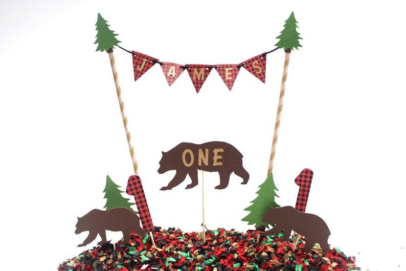 Lumberjack Cake & Cupcake Topper Set Lumberjack Party | Etsy