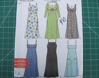 6 Variations in 1 Princess Style Dress New Look 6969 6 8 10 12 14 16 FF