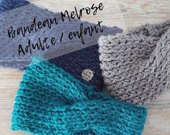 MELROSE headband / headband / adult / child / knitting / spring / autumn / knit headband