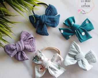 "Buckle ""Delicate"" / loop / hairbow / bow / hair / accessory / elastic / pliers / headband"