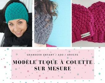 Duvet tuque / messy bun / tuque with a hole / tuque / knit / knit / hat / messy bun hat