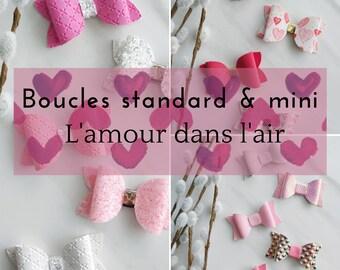 Standard loop and mini love in the air / valentine/love/bar/headband/headband/bow/loop/elastic pinch/elastic