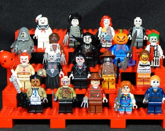Horror Movie Pick Your Set Of 5 Minifigs Jason Chucky Freddy Mike Myers Leatherface Jigsaw Pinhead Building Toys Building Block Toy
