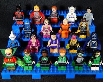 Green Lantern Corps DC Inspired Minifigs Hal Jordan John Guy Alan Scott Sinestro Blue Yellow Red Indigo Violet White Black Building Toy