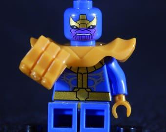 Thanos Minifig Marvel Comics Infinity War Gauntlet Avengers Cosmic Building Block Toy