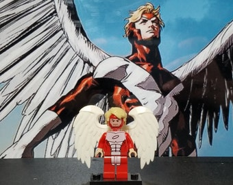 Angel Minifig Marvel Comics Warren Worthington X-Men Cyclops Phoenix Beast Iceman Wolverine Deadpool Building Block Toy