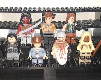 Walking Dead Set of 7 Minifigs Rick Carl Grimes Darryl Michonne Negan Carol Morgan AMC Building Block Toy