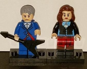 Dr Who Set Of 2 Custom Minifigs Twelfth Doctor Capaldi Clara Oswald Building Block Toy