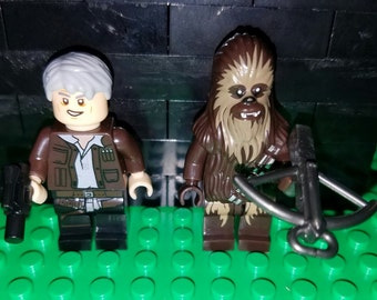 Han and Chewie Set Of 2 Star Wars Minifigs Han Solo Chewbacca Force Awakens Building Toys Building Block Toy