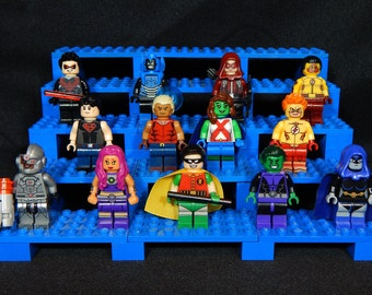 Young Justice Teen Titans DC Inspired Minifigs Robin Cyborg Raven Starfire Beast Boy Aqualad Kid Flash Nightwing Building Block Toy