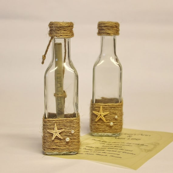 10 message in a bottle glass bottle invitation message in a etsy