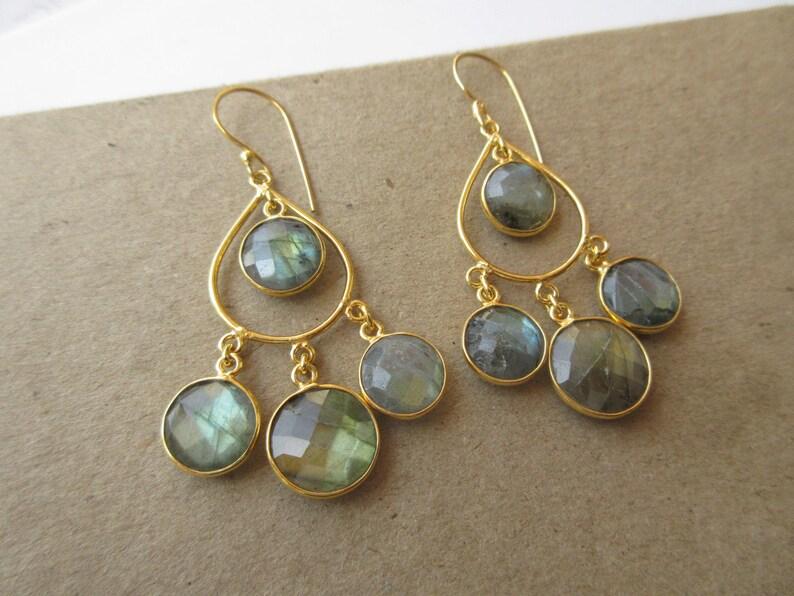 Chandelier Dangle Earrings Indian Earrings Earrings for Women Labradorite Bridesmaids Charm Earrings