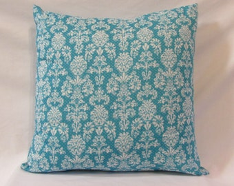 Aqua Scroll Print Pillow, Aqua Pillow, Home Decor, Pillow, Decorative Pillow, Throw Pillow