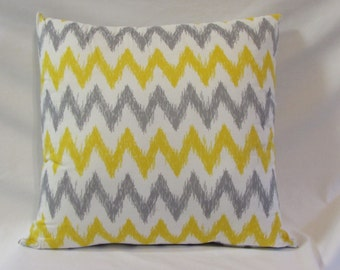 Gray & Yellow Chevron Pillow, Decorative Pillow, Throw Pillow, Home Decor, Chevron Pillow, Chevron Decor, Pillow