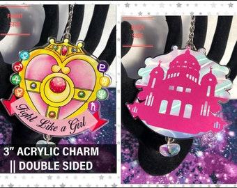 "Fight Like a Girl - 3"" Acrylic Charm"
