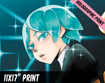 Phos || Land of the Lustrous || Holographic Print