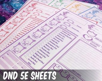DND 5e || Character Sheet Bundles