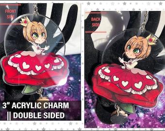 "Sakura - 3"" Acrylic Charm"