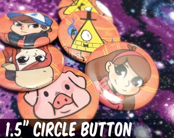 "Gravity Falls Button Pack || 1.5"" Pin Back 
