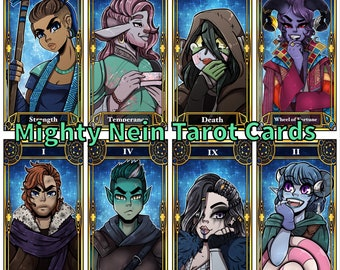 All Mighty Nein || Critical Role Tarot Cards