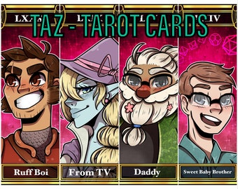 The Adventure Zone Tarot Cards