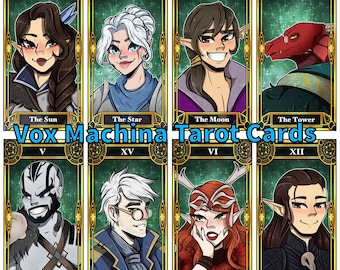 All Vox Machina || Critical Role Tarot Cards