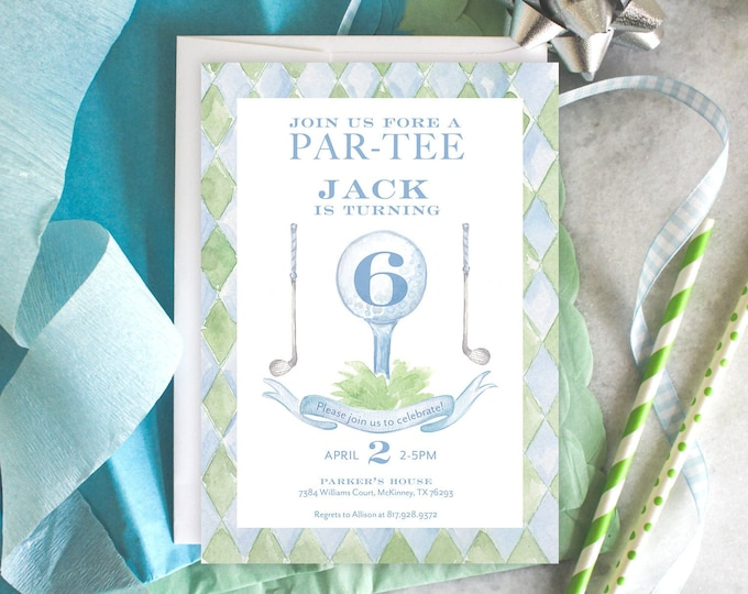 PRINTABLE Birthday Party Invitation | Golf Par-Tee | Little Sport | Beauford Bonnet