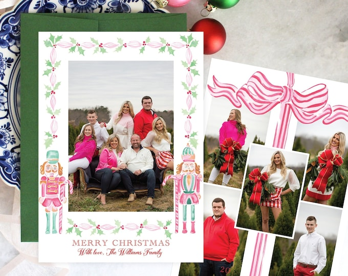 PRINTABLE Holiday Cards   Nutcracker   Land of Sweets   Sugar Plum   Holly   Ribbon