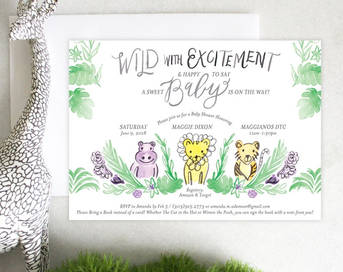 PRINTABLE Baby Shower Invitation | Jungle Fever