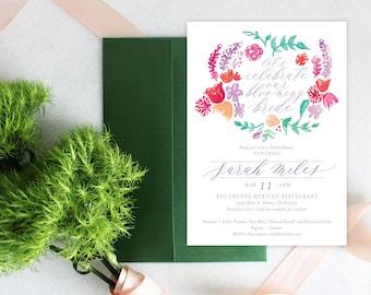 PRINTABLE Bridal Shower Invitation | Blooming Bride
