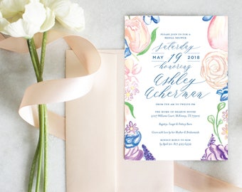 PRINTABLE Bridal Shower Invitation | Garden Party