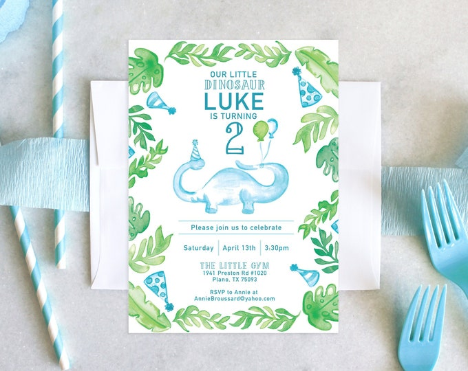 PRINTABLE Birthday Party Invitation | Little Dinosaur Birthday | Rawr!