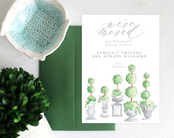 PRINTABLE Moving Announcement | Topiaries